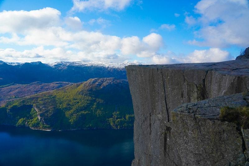 Preikestolen the pulpit rock in Norway