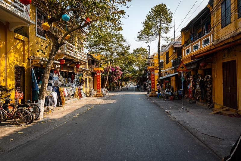 Charming street in Hoi An