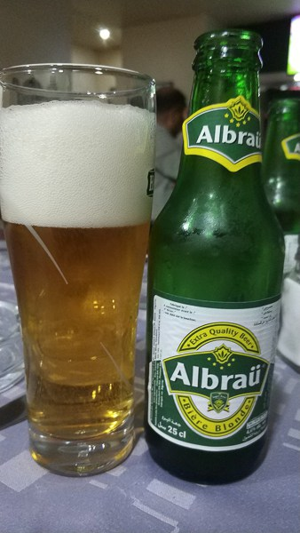 Albraü Bière Blonde another locally made Algeria beer
