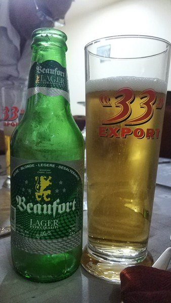 Beaufort a local Algeria beer