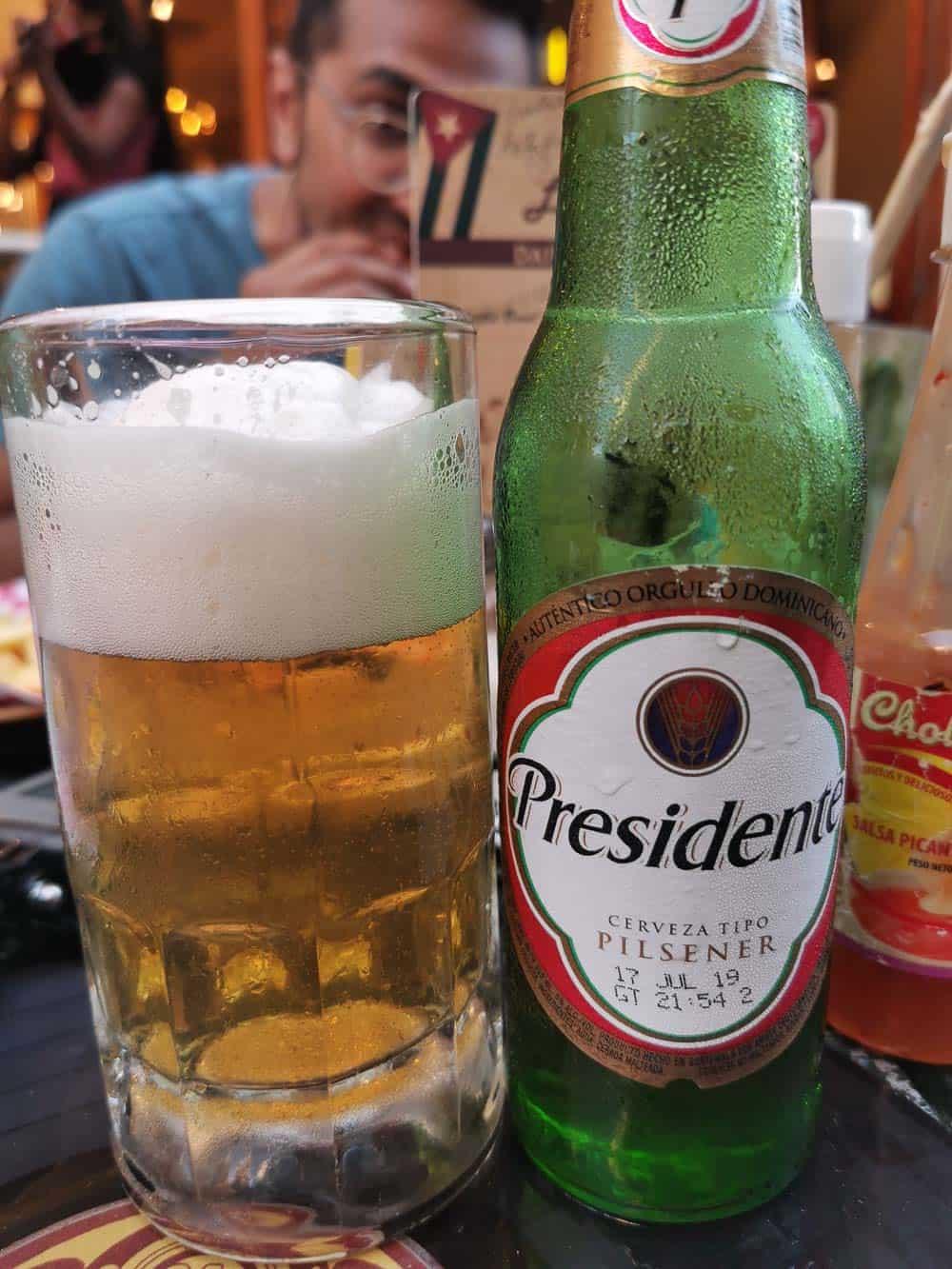 Presidente beer sold in Cuba