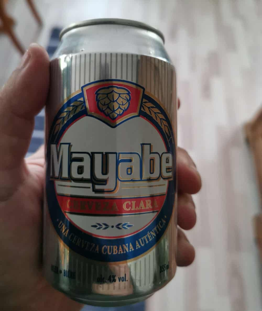 Mayabe Cerveza Clara local cuba beer