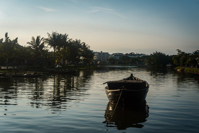 local boat on the Thu Bon in Hoi An.
