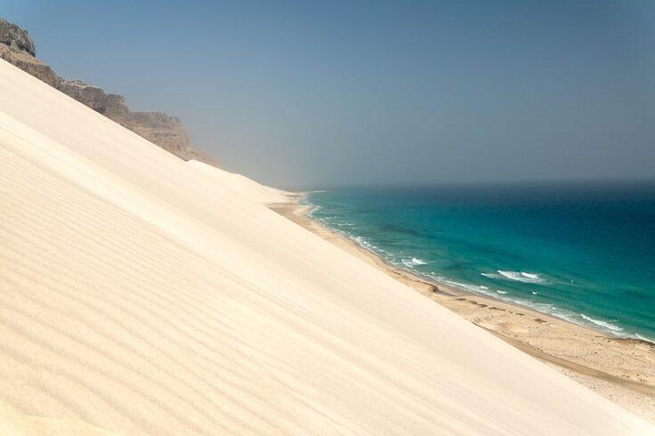 sand dunes behind Arher beach