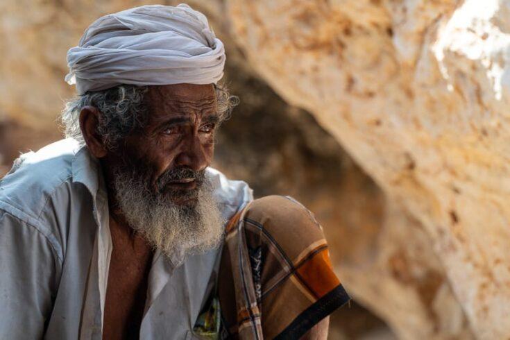 an old local man at Shuab Socotra