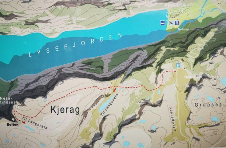 Kjeragbolten hike map