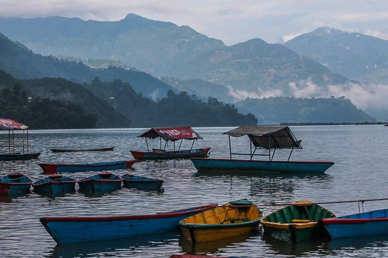Pokhara lake in Nepal