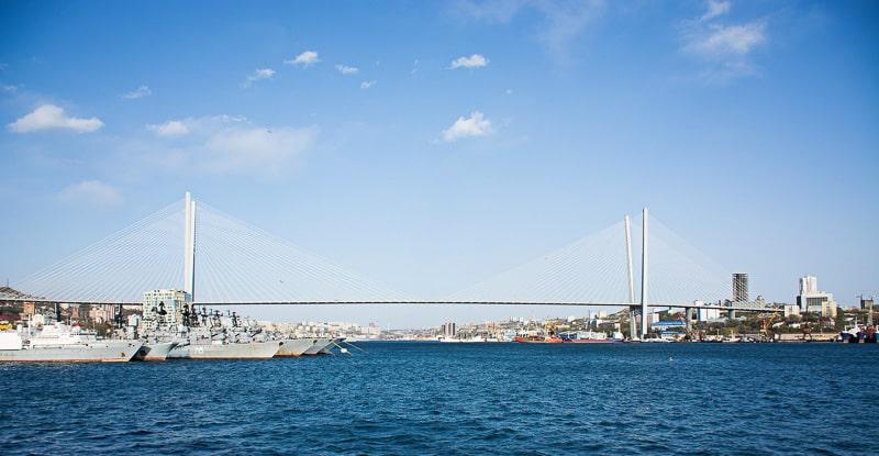 Zolotoy Bridge in vladivostok