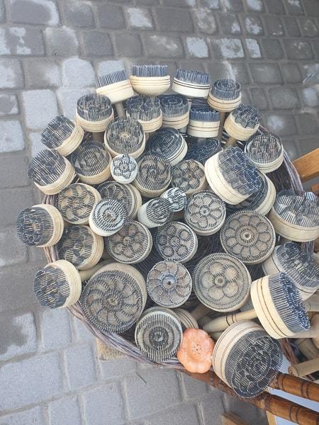 ikat print and hand craft in Uzbekistan