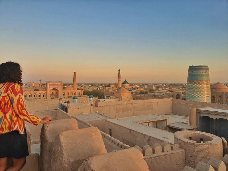 Khiva uzbekistan view