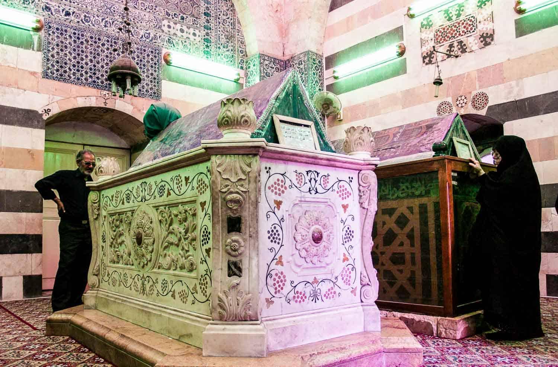 Inside Saladin's mausoleum