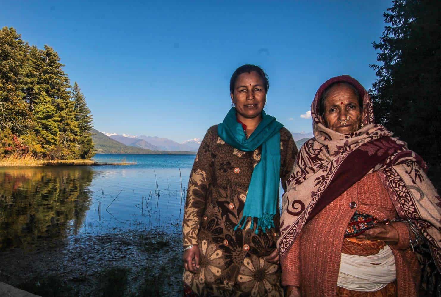 locals infront of Rara Lake