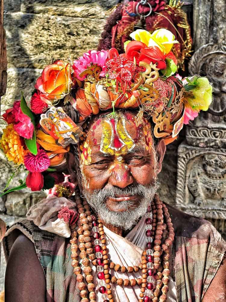 holly man kathmandu nepal