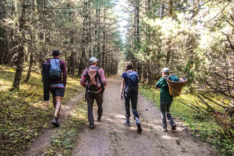 hiking to rara lake