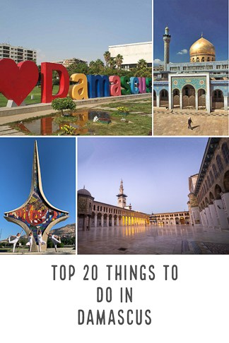 Top Things to do in Damascus the Capital of Syria and one of the most historical places in the whole world.