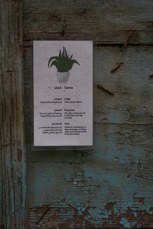 With information signs what the plants are