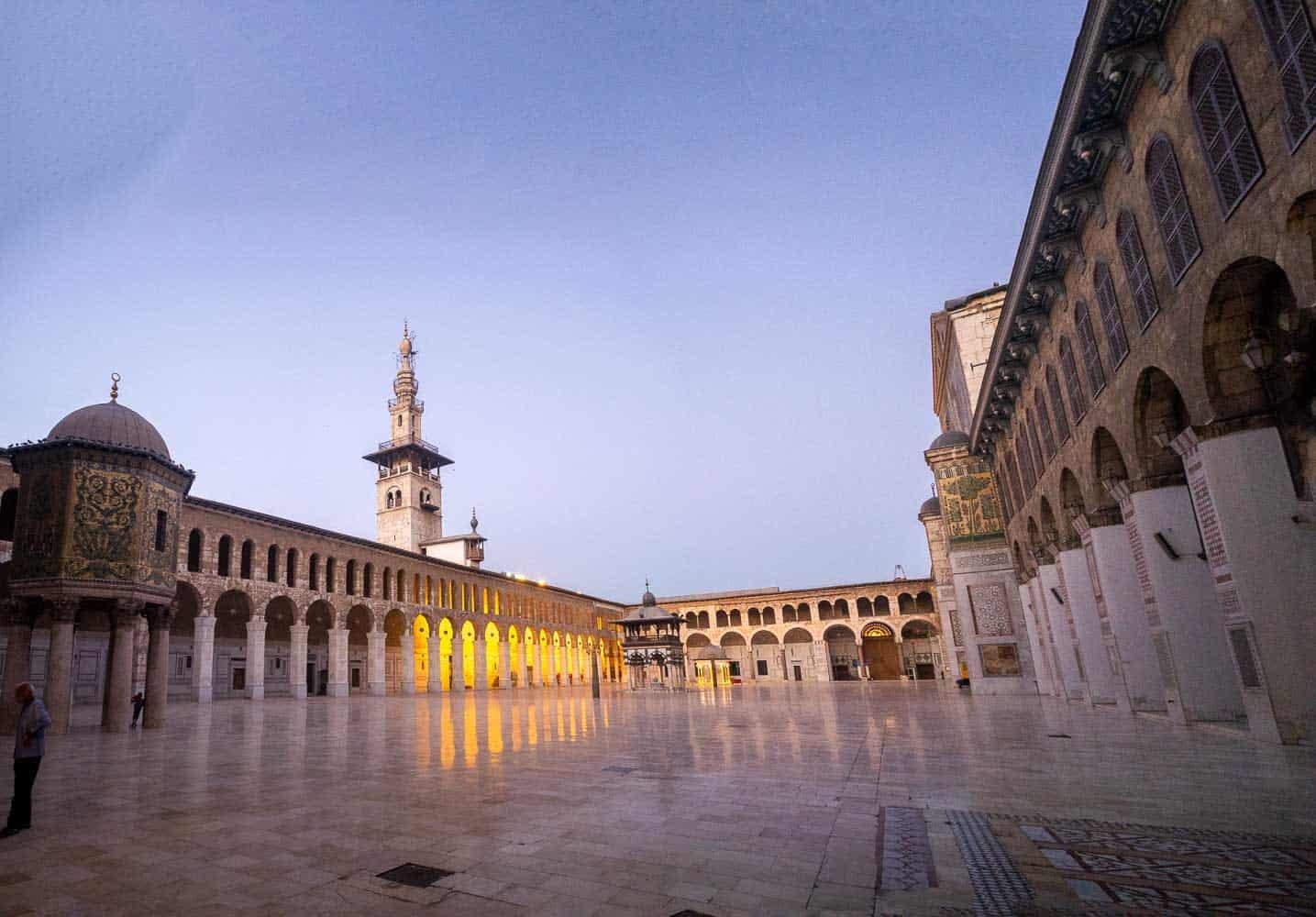 The quartyard of Umayyad Mosque