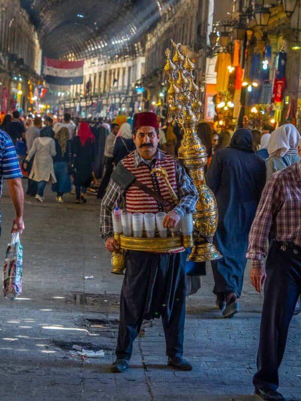 tamarind juice seller in Damascus