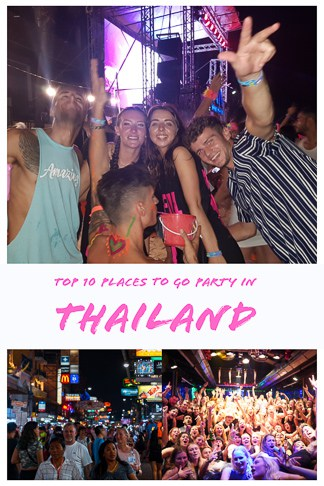 Guide To the best places to go party in Thailand