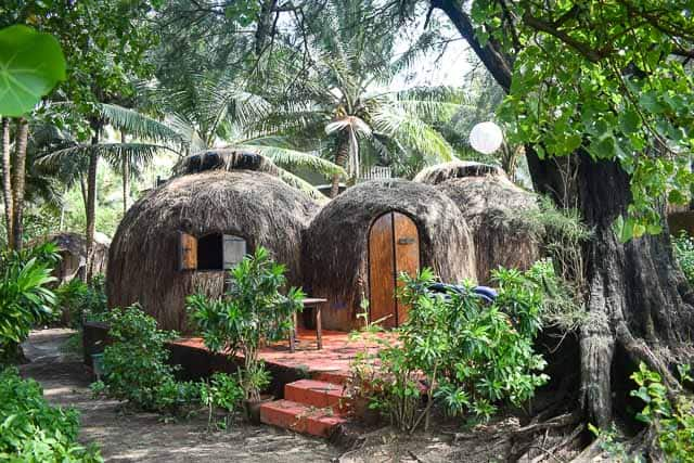 Goa huts in india