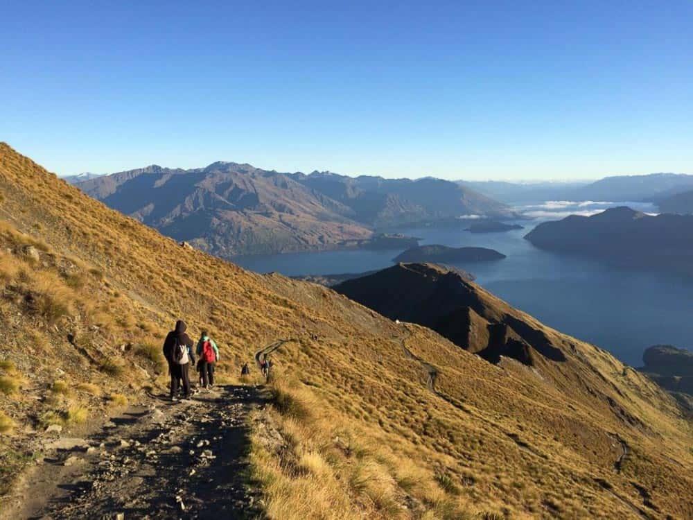 Hiking Roys Peak South Island New Zealand