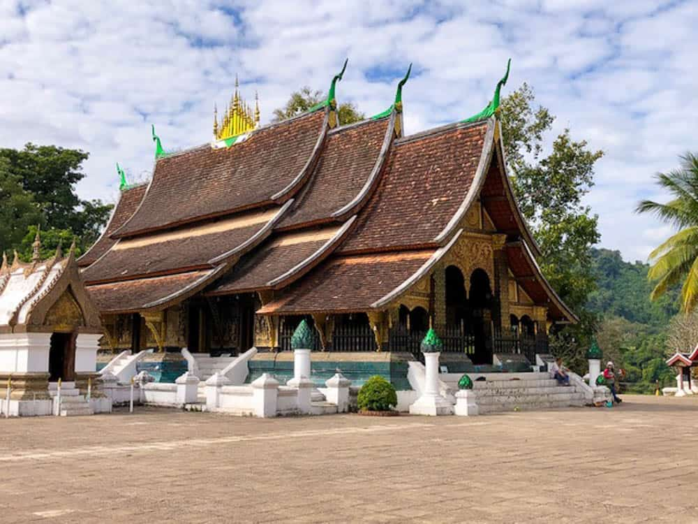 Wat Xieng Thong is a Buddhist temple on the northern tip of the peninsula of Luang Phrabang