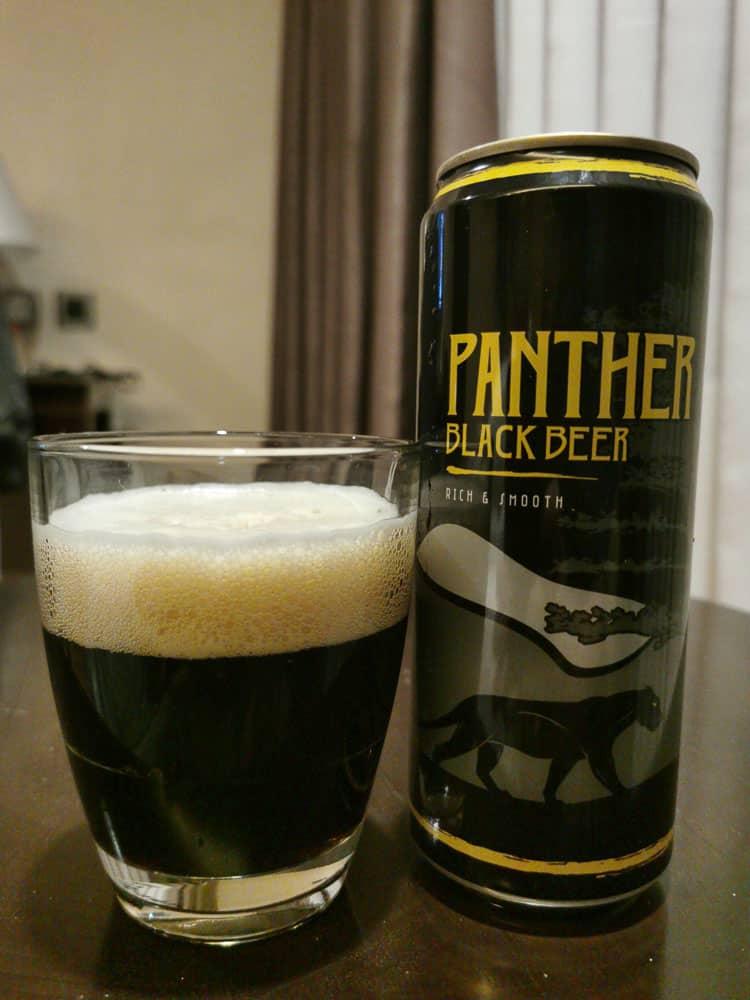 Panther Black Beer dark beer in Indonesia