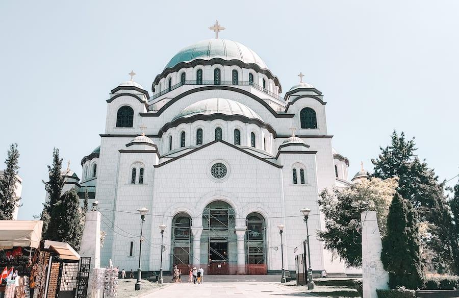 church of saint sava in Belgrade the capital in Serbia