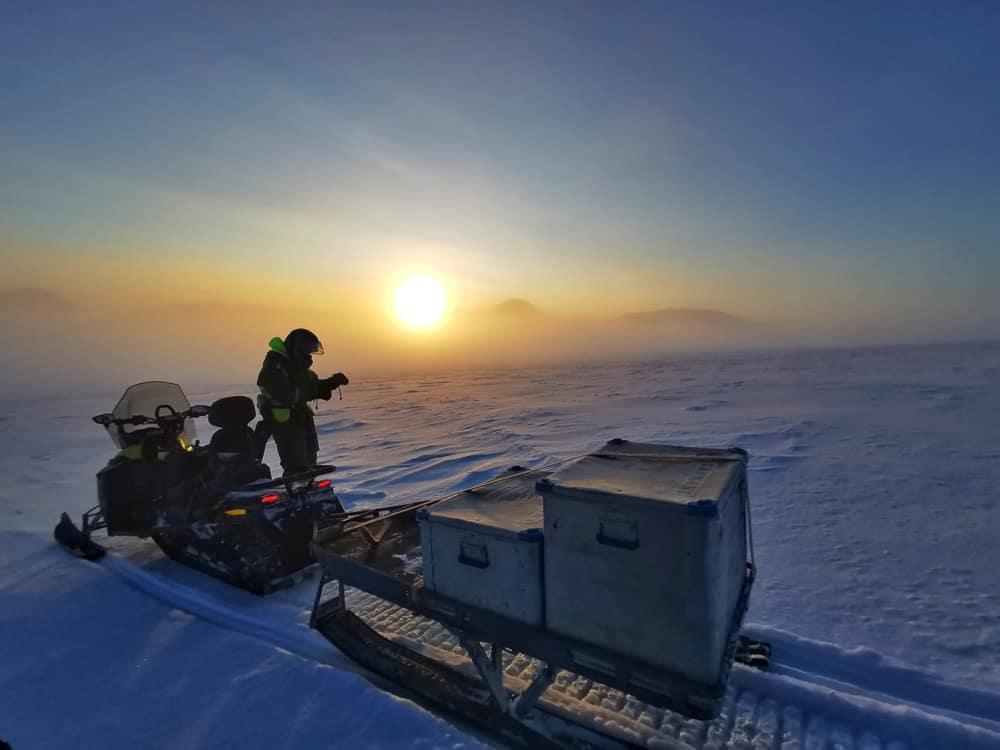 Svalbard snowmobile