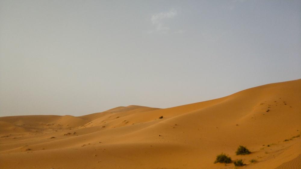 large sand dunes Taghit Algeria