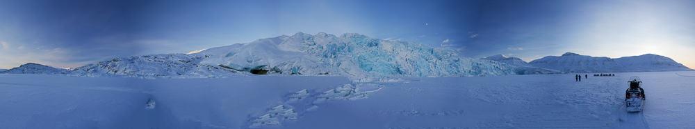 Svalbard winter landscape