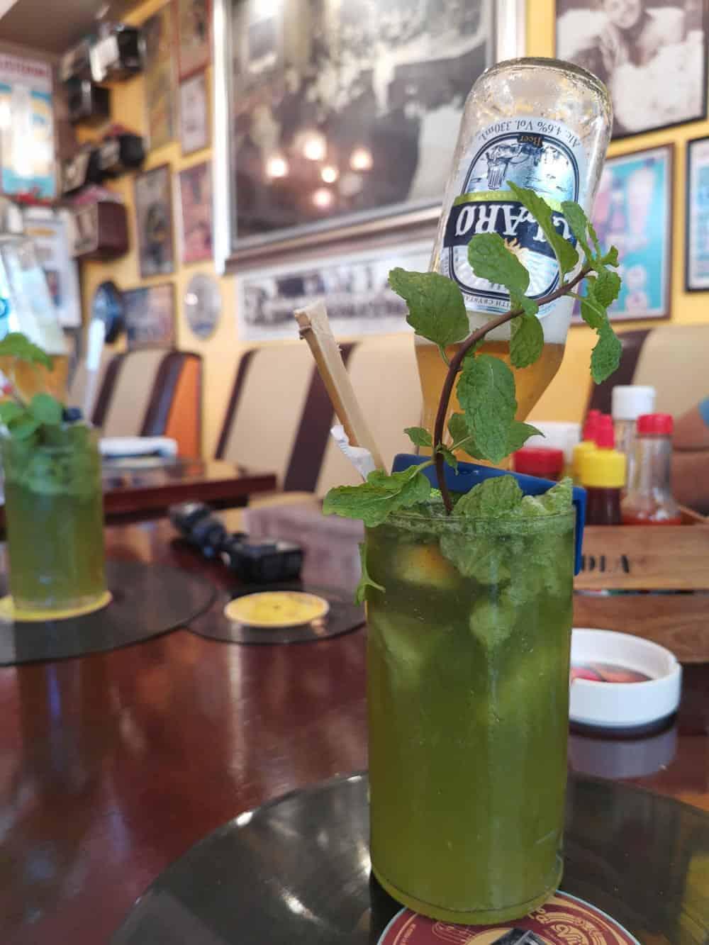 Claro used in frozen Mojitos in Havana