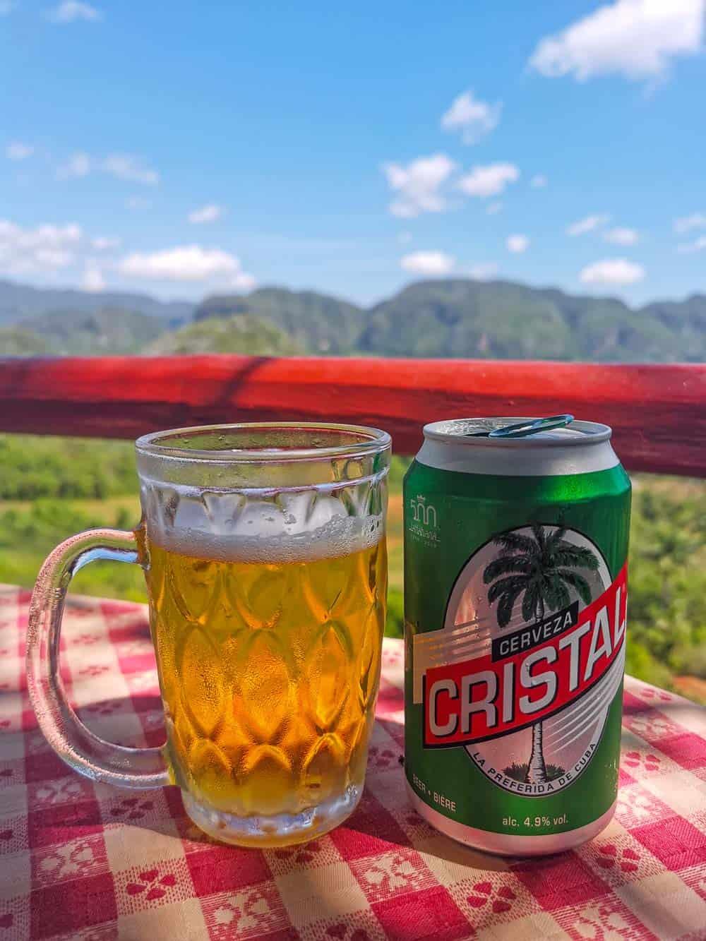 Cristal beer in Cuba
