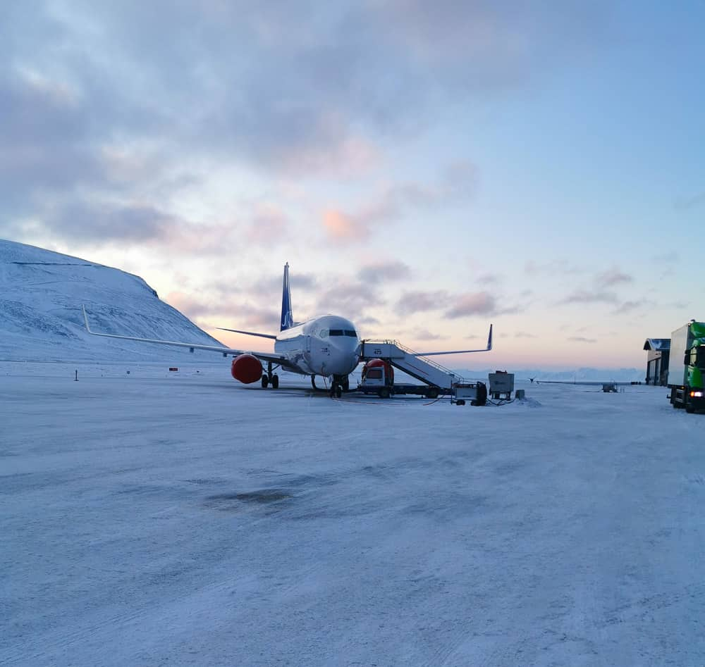 Arriving on an ice-cold morning at Svalbard Airport, it´s colder than it looks.