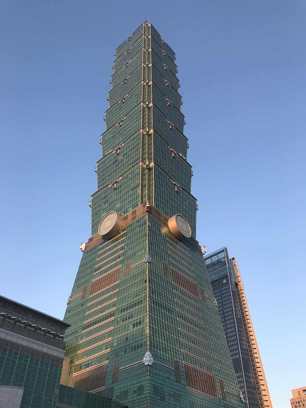 Taipei 101 a landmark of Taipei and Tawan