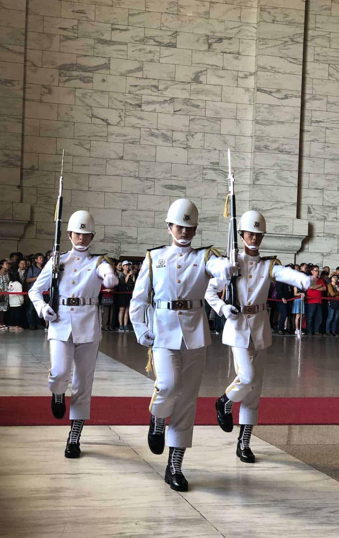 Changing of the guard at Chiang Kai-Shek Memorial Hall