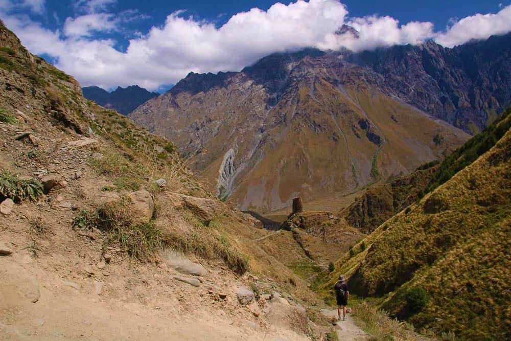 Stepantsminda mountains in Georgia