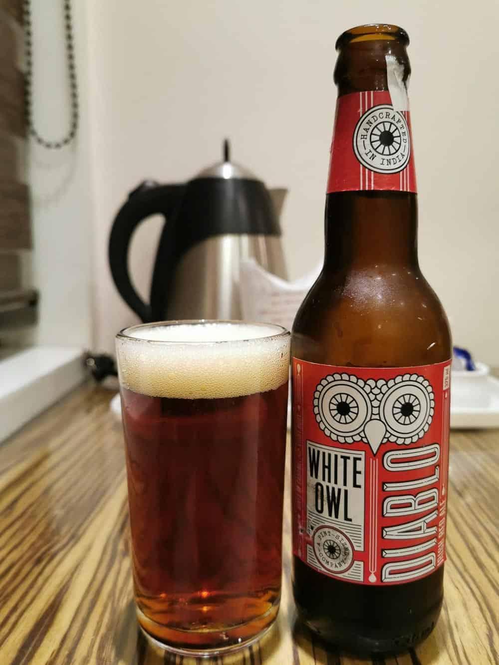 The White Owl Diablo india craft beer