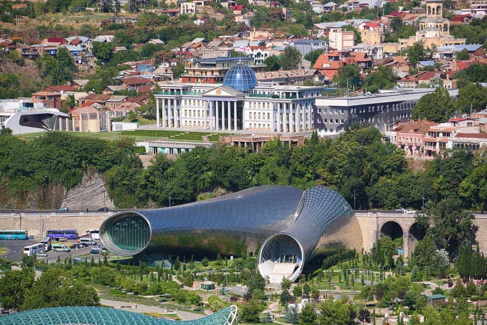 Modern architecture in Tbilisi the capital of Georgia