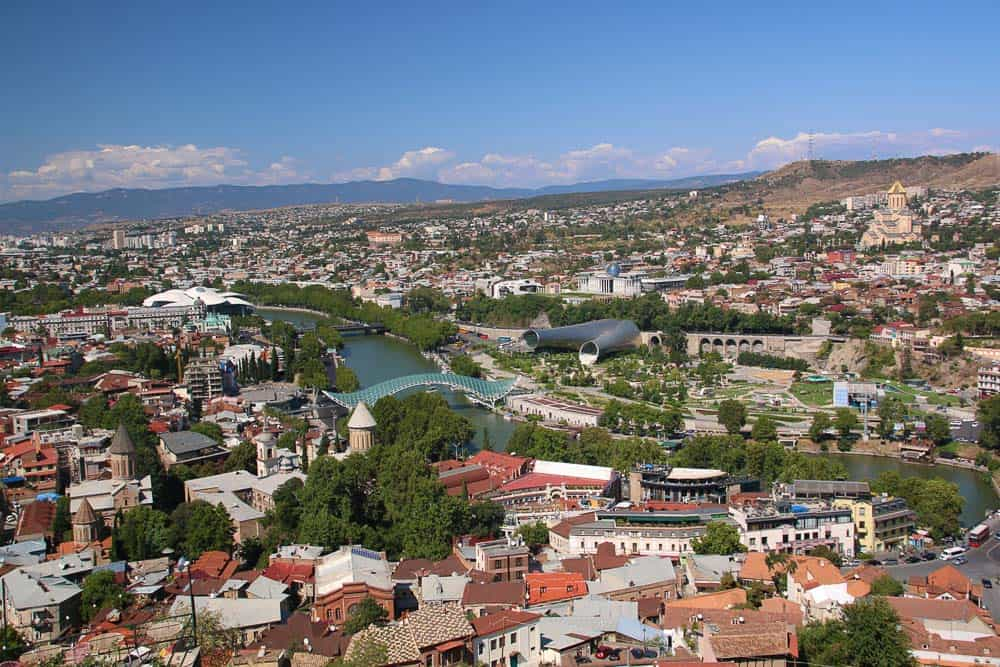 Overlooking Tbilisi the capital of Georgia
