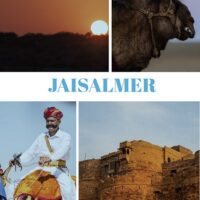 Travel guide to Jaisalmer the golden city in India in the state of rajasthan