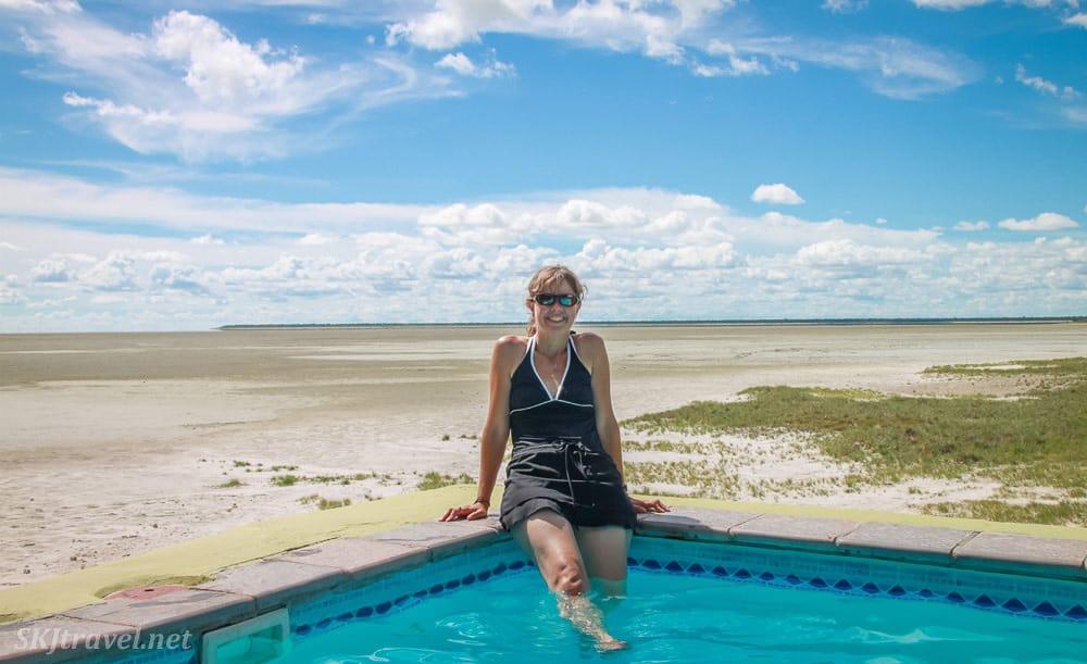 Relaxing in Etosha national park Nambia