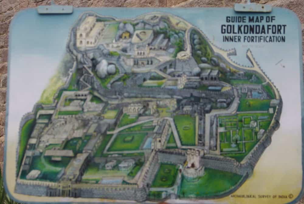 Golconda Fort Map