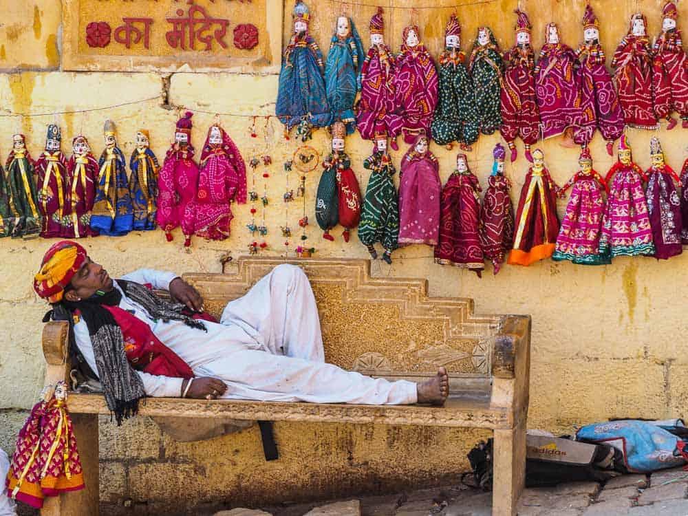 india sleeping