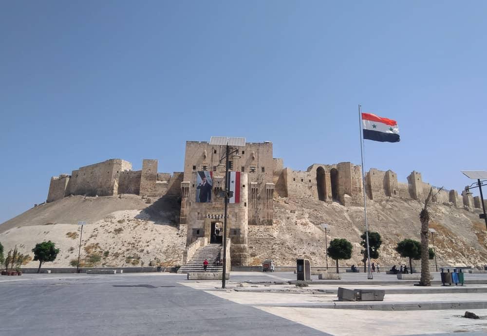 aleppo citadel syria after the war.