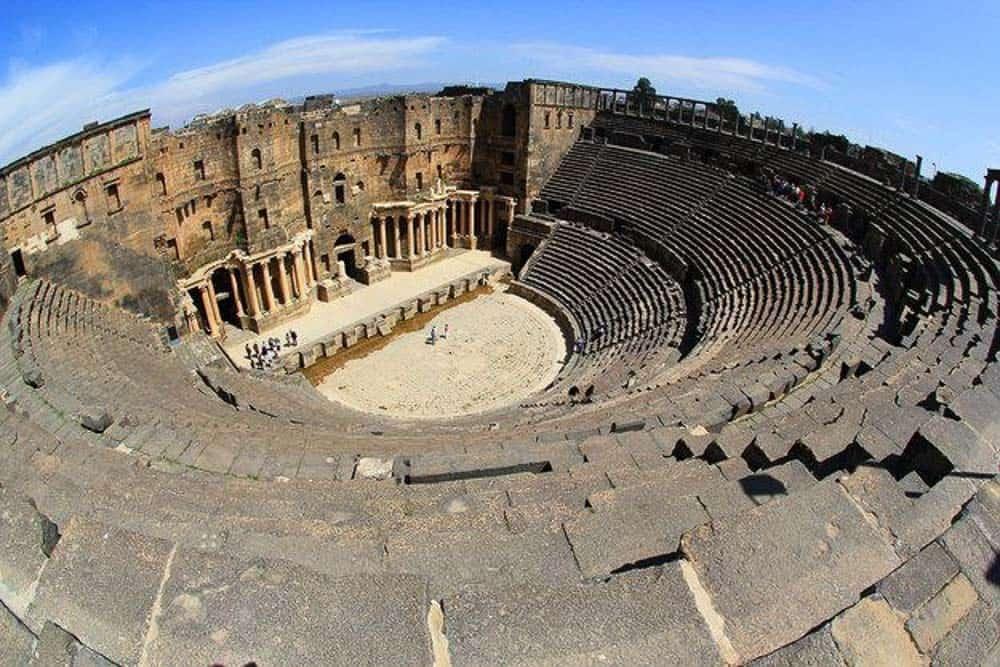 Busra roman ruins Syria