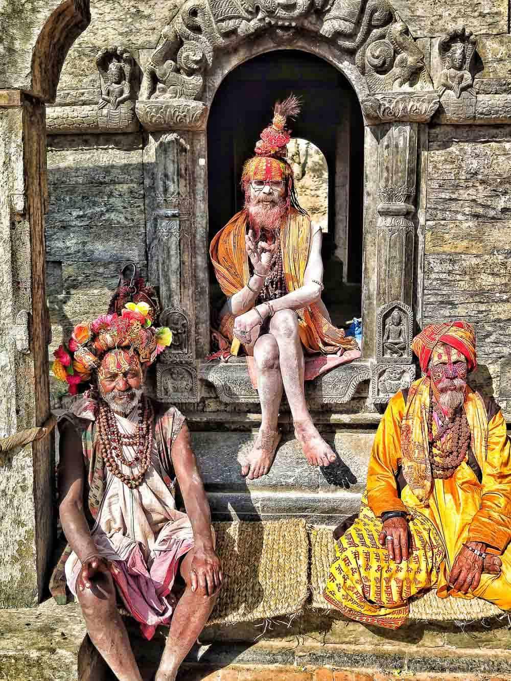 sadhus kathmandu nepal