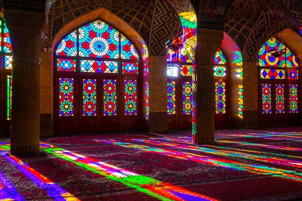 The Nasir al-Mulk Mosque pink mosque iran