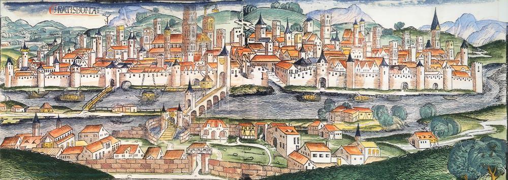 Regensburg old map germany