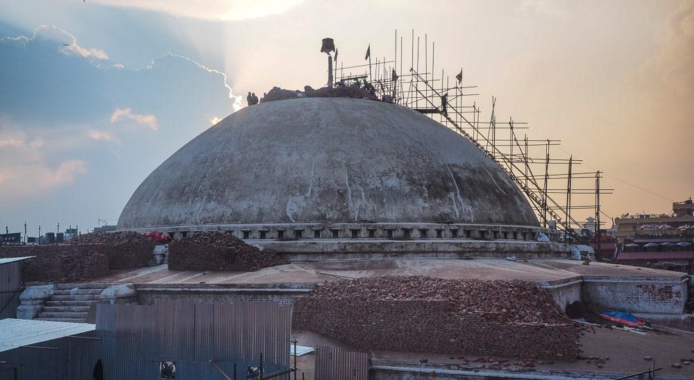 Boudhanath/Bouddha earthquake